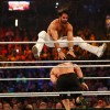 Seth Rollins and John Cena battle it out at the WWE SummerSlam 2015