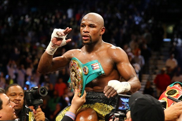 WBA Welterweight Champion Floyd Mayweather