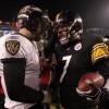 NFL Quarterbacks Joe Flacco and Ben Roethlisberger