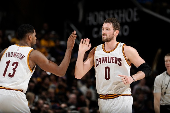 Cleveland Cavaliers Power Forwards Tristan Thompson and Kevin Love