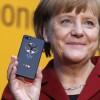 German Chancellor Angela Merkel BlackBerry Z10