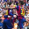 Barcelona Players Lionel Messi, Luis Suarez and Neymar