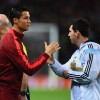 Real Madrid's Cristiano Ronaldo and Barcelona's Lionel Messi