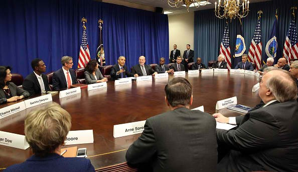 President Barack Obama Meets With Agriculture And Business Leaders