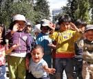 Indigenous children in Quito, Ecuador