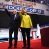 Bernie Sanders, Hillary Clinton at the Democratic Debate