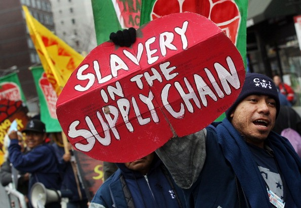 Workers And Activists Protest Outside Of Trader Joe's Store Demanding Fair Farm Labor Standards
